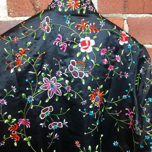 1960s silk embroidered oriental jacket
