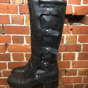 MARC JACOBS quilted leather boots 39.5