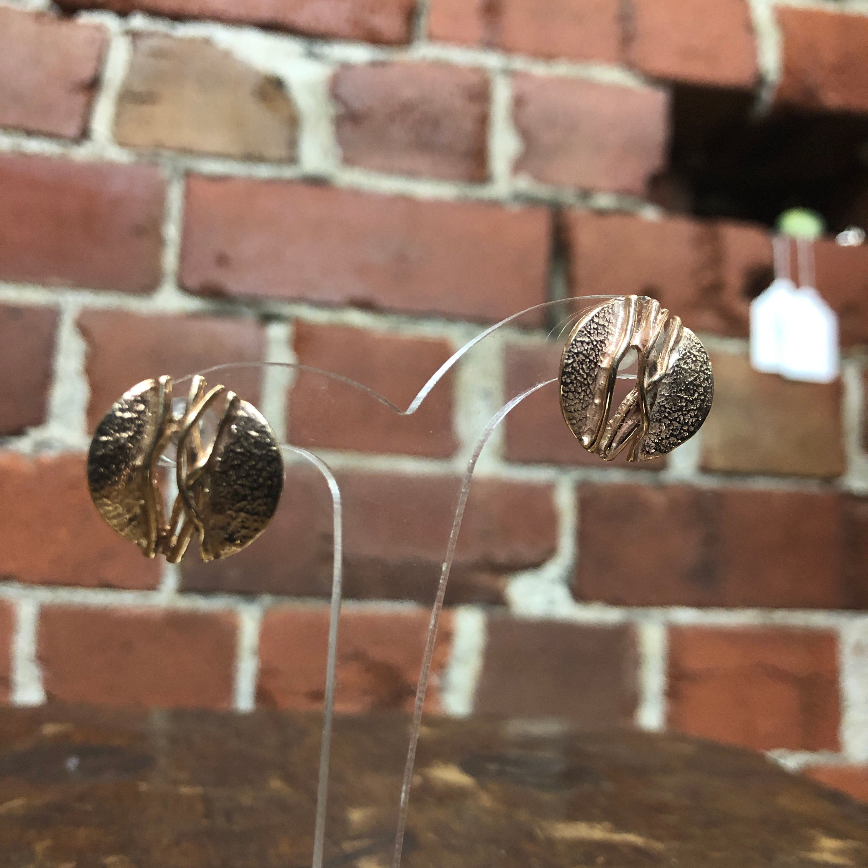 MID CENTURY 9CT Rose gold earrings