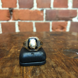 1934 10k gold and sterling silver ring