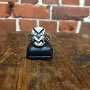 NZ MADE Maori Wheku sterling silver ring