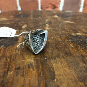 MEDIEVAL SHIELD STG silver ring