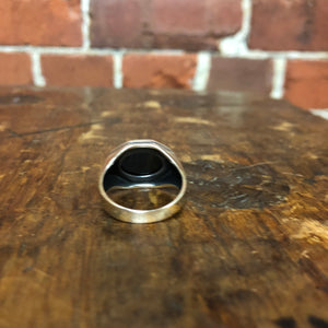 1970s onyx and sterling silver ring