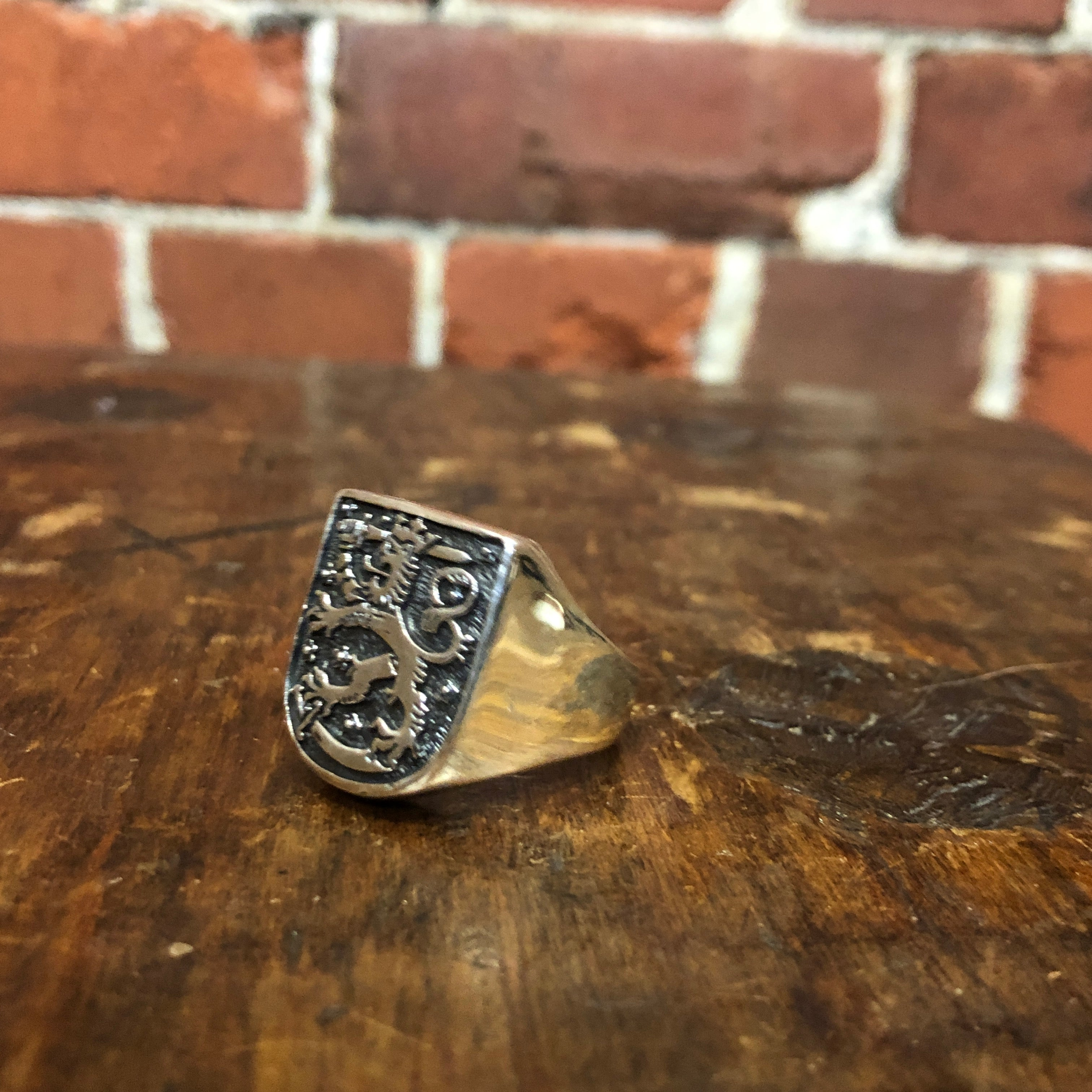 MEDIEVAL shield sterling silver ring