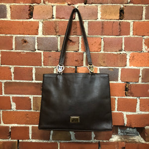 MOSCHINO leather tote bag