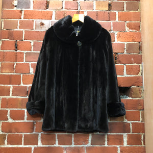 Genuine Black Mink Coat