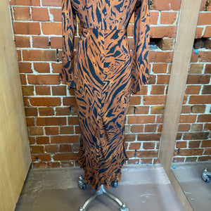 SILK tiger print gown