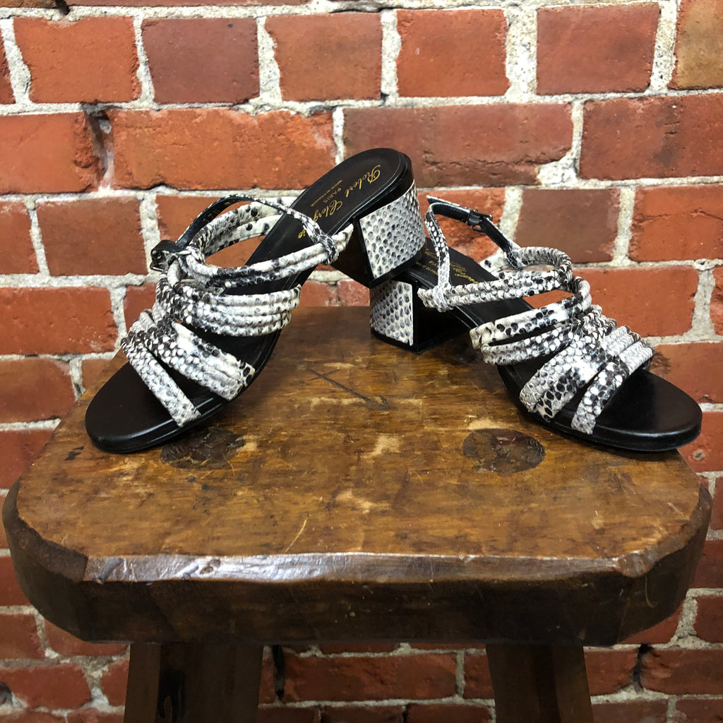 ROBERT CLERGIERE snakeskin sandals 37.5