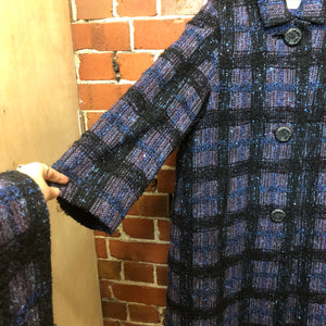 1950s woven wool coat with matching scarf!