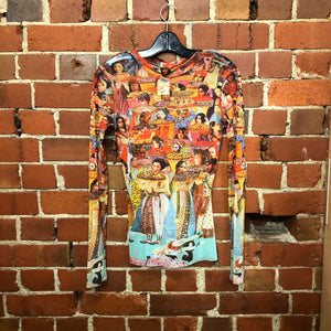JEAN PAUL GAULTIER RARE people print top