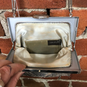 OROTON glo-mesh vintage evening bag