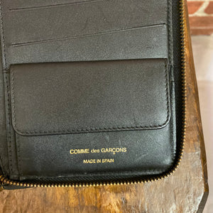 COMME DES GARCONS textured leather pouch