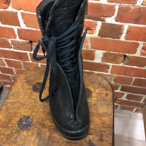 RICK OWENS leather sneakers 37