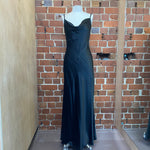 English Designer satin slip gown