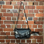 DRIES VAN NOTEN NEW leather and tapestry handbag