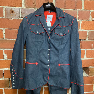 MOSCHINO denim western suit!!!!