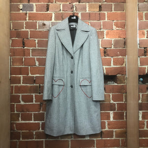 MOSCHINO herringbone coat
