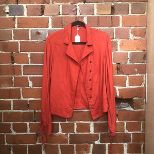 ANN DEMULEMEESTER cotton shirt jacket