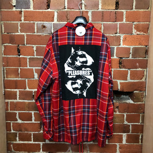 PLEASURES tartan shirt jacket