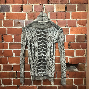 JEAN PAUL GAULTIER cable knit mesh top