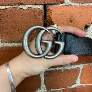 GUCCI GG classic logo leather belt