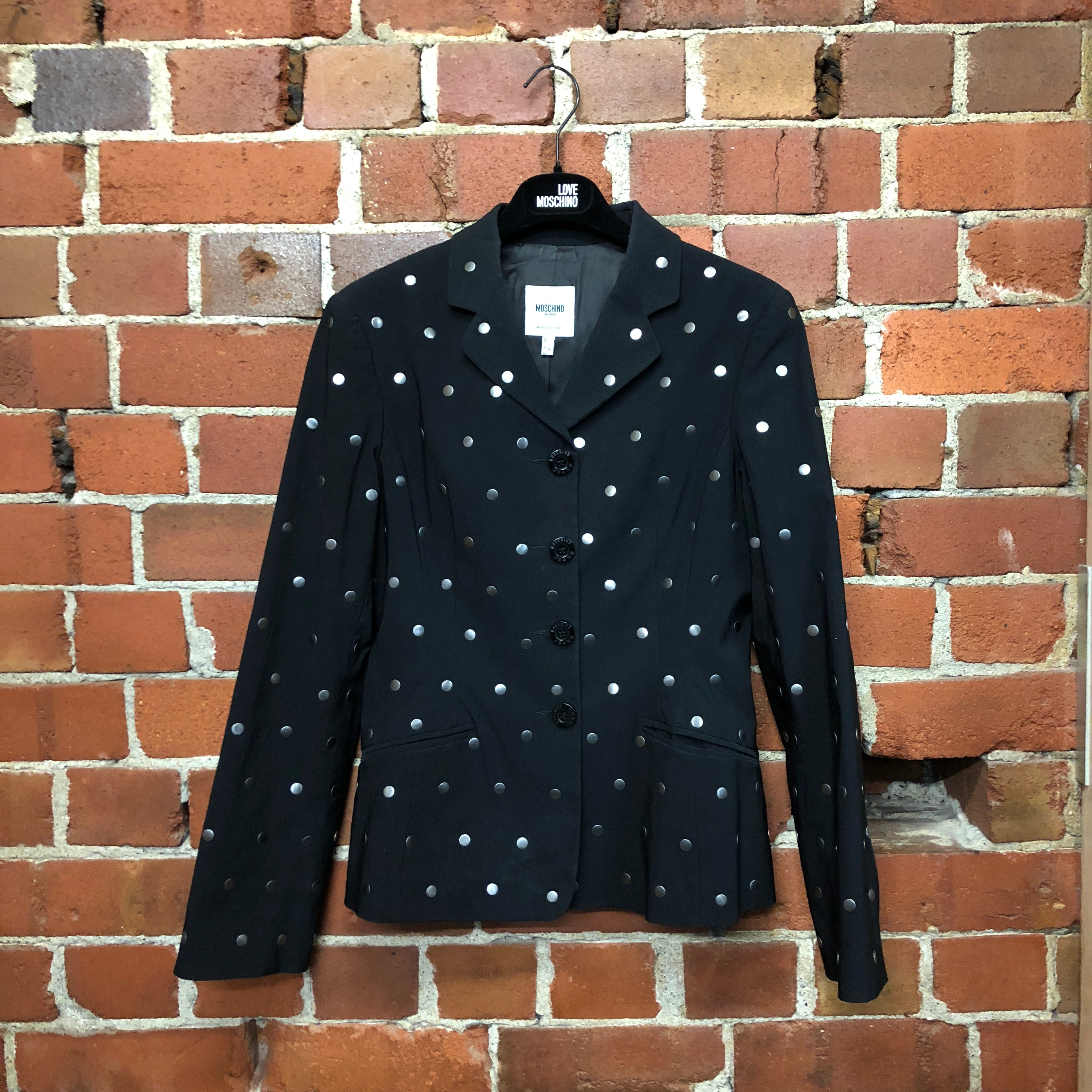 MOSCHINO metal 'domes' jacket
