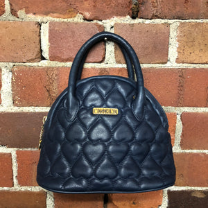 MOSCHINO leather quilted mini bag