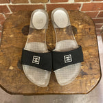 CHANEL 1990s clear slides 38