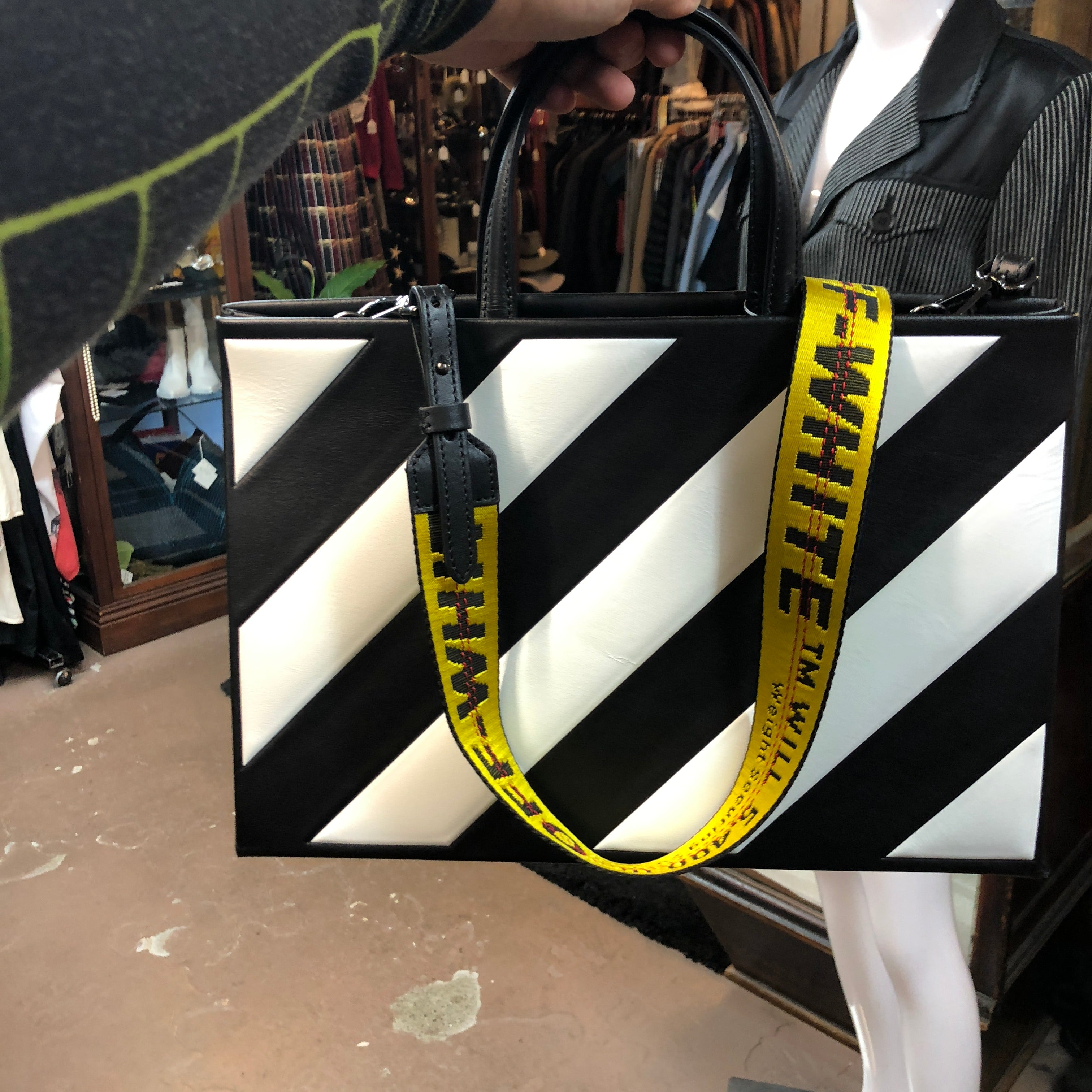 OFF WHITE leather handbag