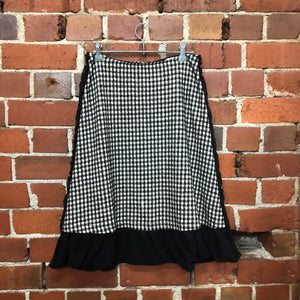 COMME DES GARCONS gingham wool skirt