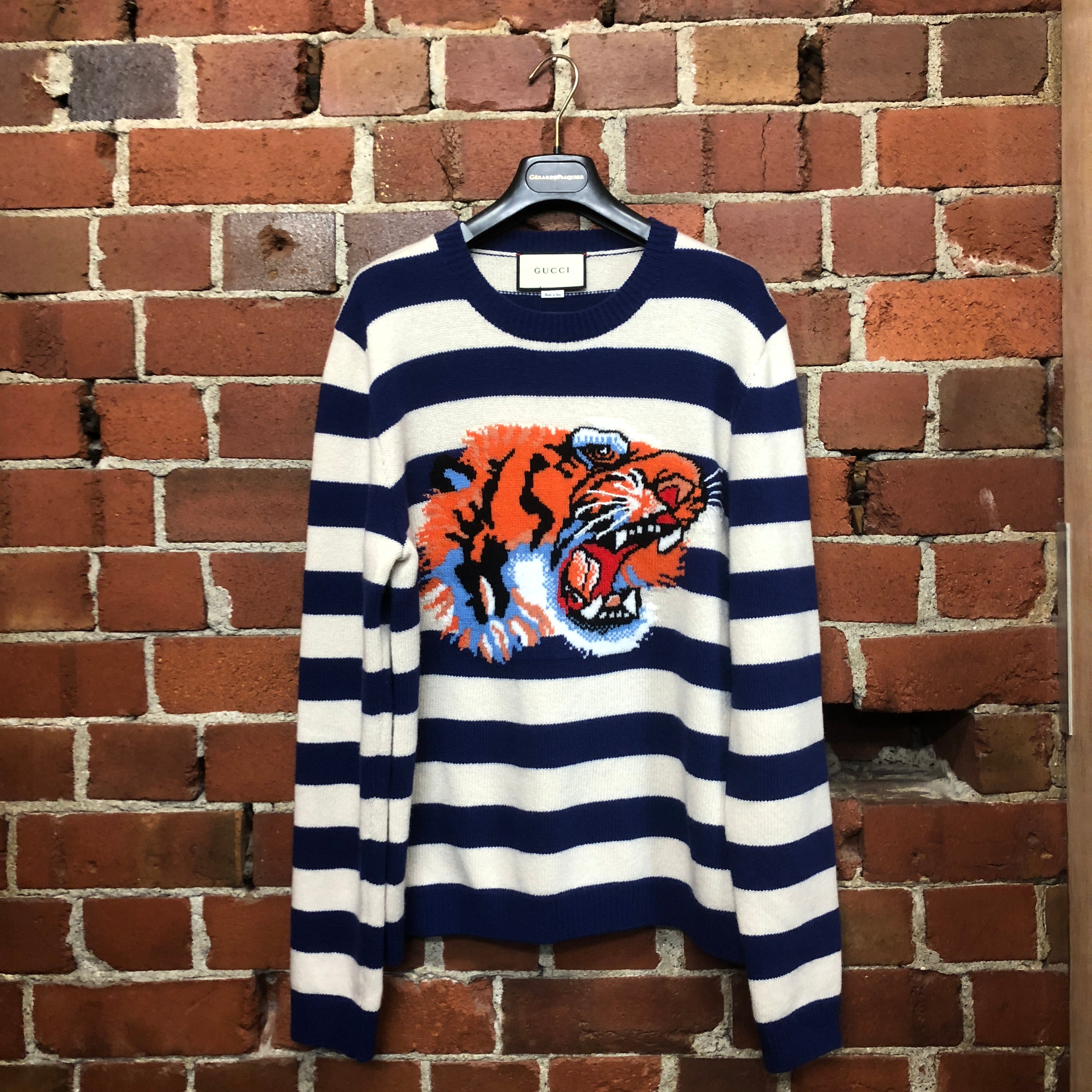 GUCCI striped tiger jumper