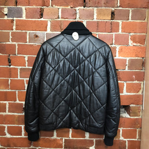 KENZO leather quilted bomber