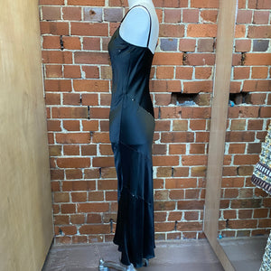 NZ DESIGNER silk satin bias gown