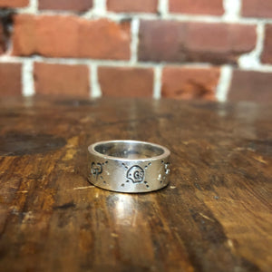 GUCCI Ghost sterling silver ring