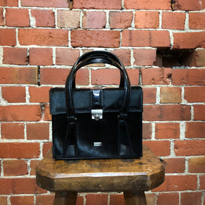 JEAN PAUL GAULTIER pony hair and patent leather box bag!