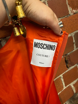 MOSCHINO construction collection silk dress!