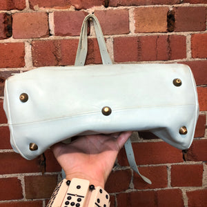 MARGIELA 'white label' leather handbag