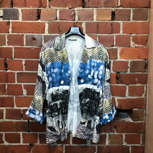 DRIES VAN NOTEN linen patterned jacket