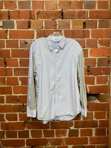 COMME DES GARCONS mixed fabric shirt