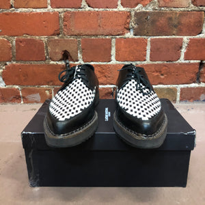 COSTUME NATIONAL HOMME woven brothel creeper shoes