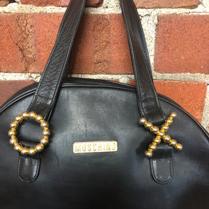 MOSCHINO leather mini XO handbag