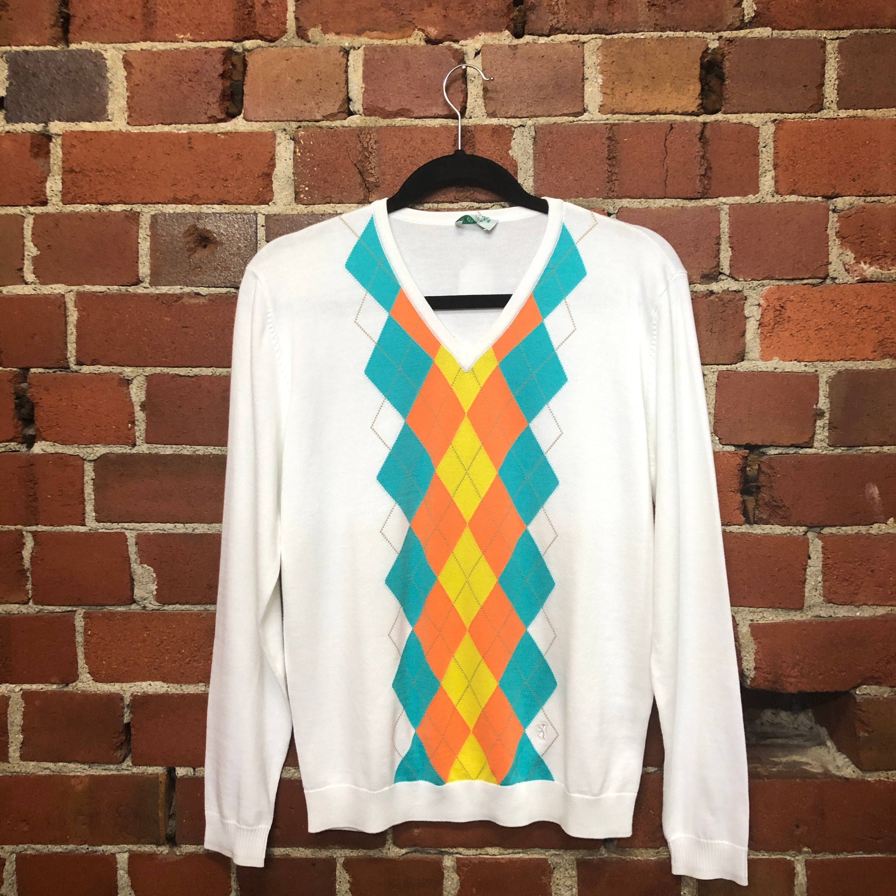 PRINGLE Argyle cotton jumper