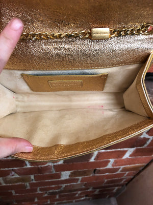 YVES SAINT LAURENT gold handbag