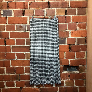 PLEATS PLEASE gingham print skirt