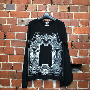 GAULTIER iconic print wool and rayon jumper XL