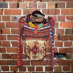 GAULTIER tribal mesh top