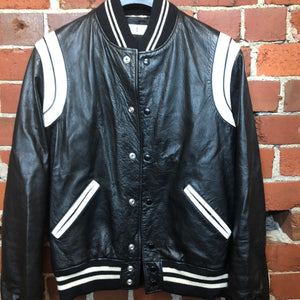 SAINT LAURENT PARIS × HEDI SLIMANE leather bomber