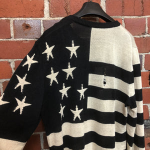 BALMAIN USA flag knit jumper