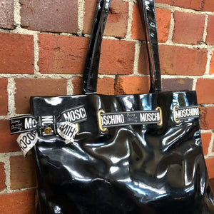 MOSCHINO Cheap n Chic Patent leather handbag