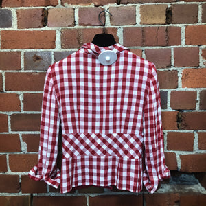 MOSCHINO little linen gingham jacket